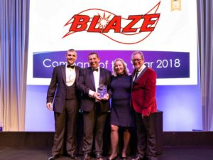 Triple industry award success for Blaze
